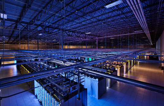 Google's data center in Council Bluffs, Iowa, covers 115,000 square feet